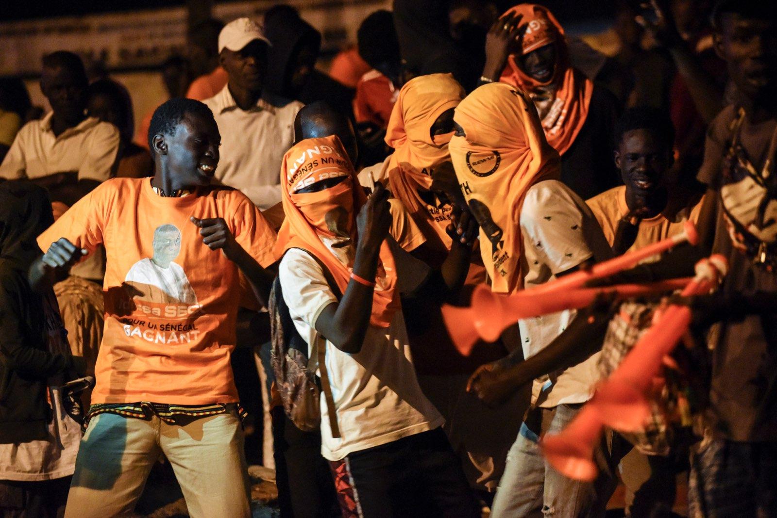 Des partisans d'Idrissa Seck, pendant la campagne pour la présidentielle 2019.