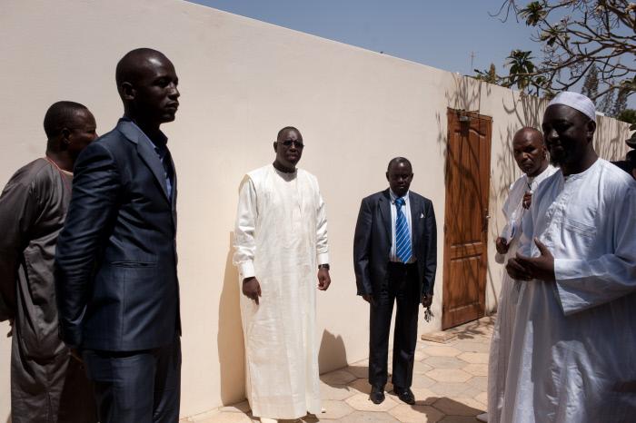 Macky Sall, le 27 février 2012 à son domicile à Dakar.