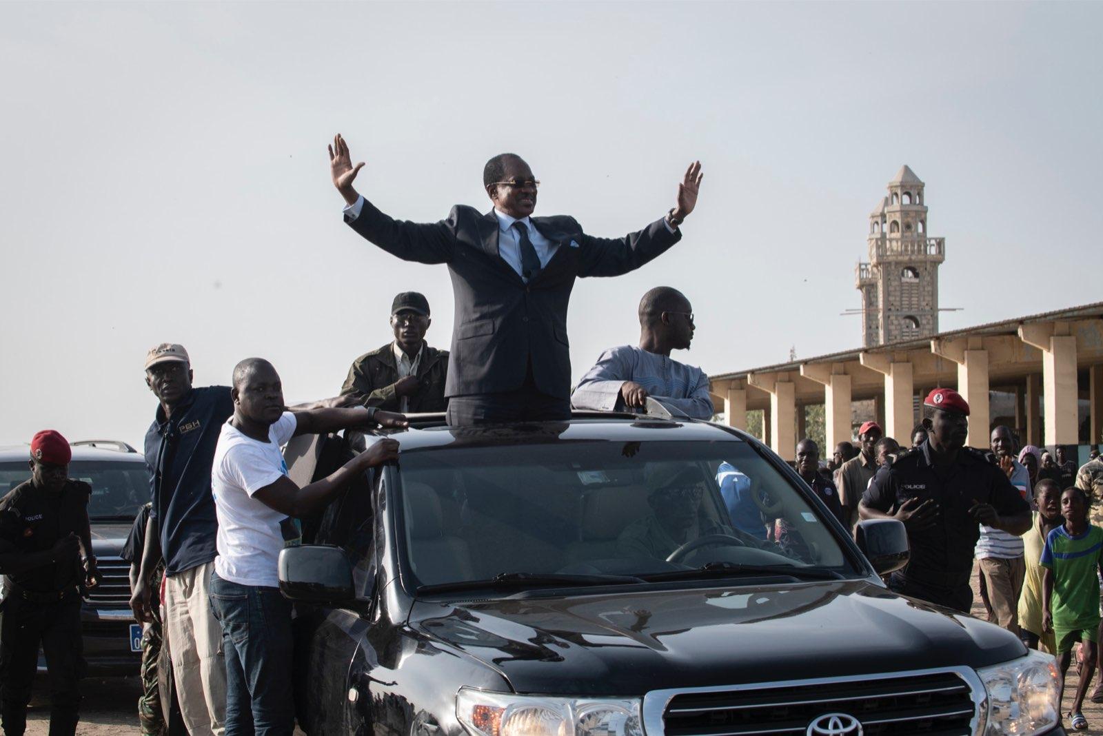 Madické Niang, candidat à la présidentielle 2019, lors de la campagne.