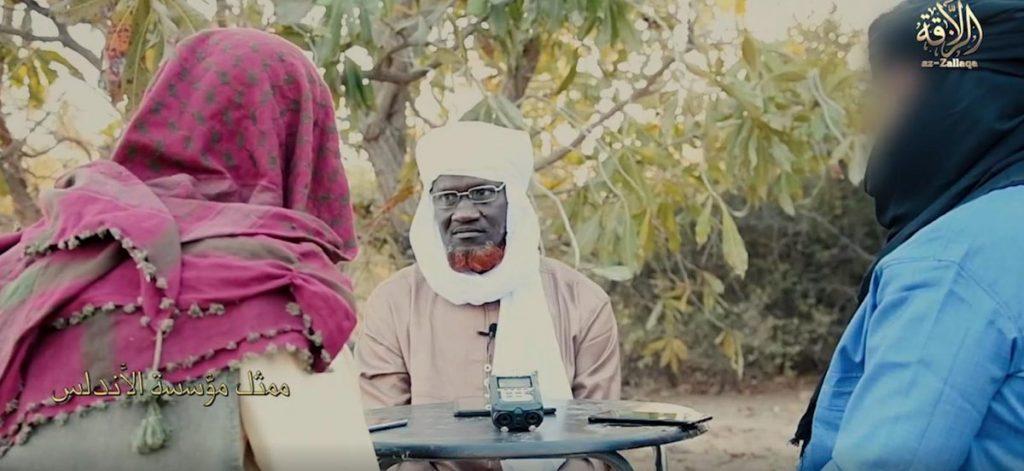 Amadou Koufa, dans une vidéo de propagande diffusée le 28 février 2019 (image d'illustration).