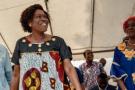 Simone Gbagbo, lors de l'annonce de la libération de Laurent Gbagbo