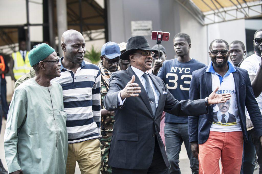 «Plan B» autoproclamé du PDS à la présidentielle, Madické Niang (ici pendant sa campagne) a claqué la porte du parti le9mars.