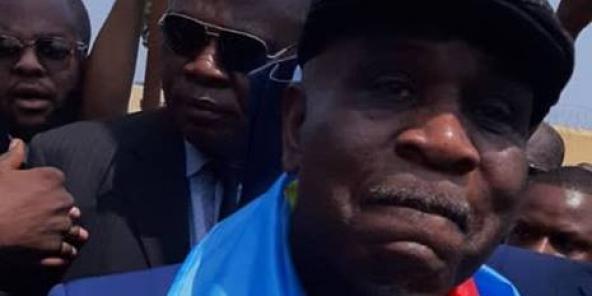 Opozan Eugène Diomi Ndongala sou lage l 'sou Mas 21, 2019.