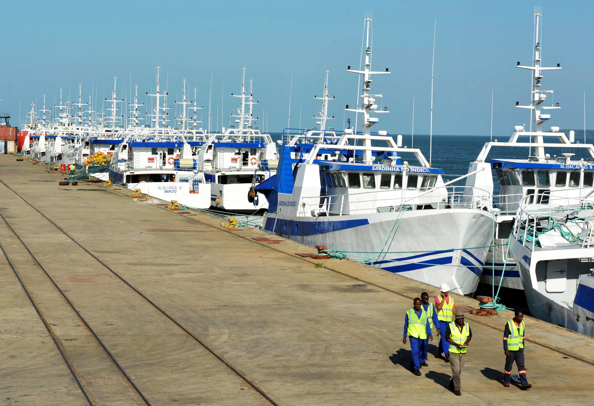 La flotte de pêche d'Ematum, l'une des trois sociétés créées pour souscrire les prêts.