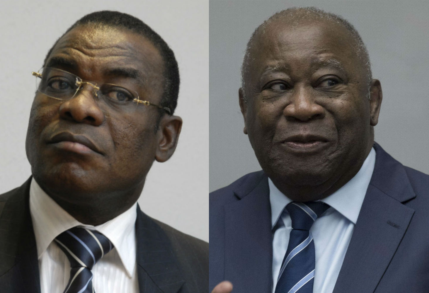 Pascal Affi N'Guessan et Laurent Gbagbo.