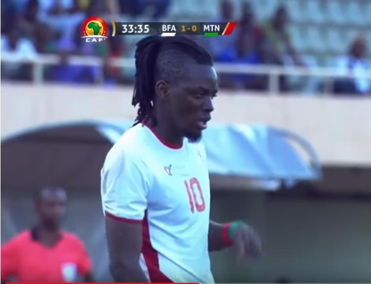 Bertrand Traoré, samedi 23 mars à Ouagadougou, lors du match de la dernière journée de qualification pour la CAN 2019.