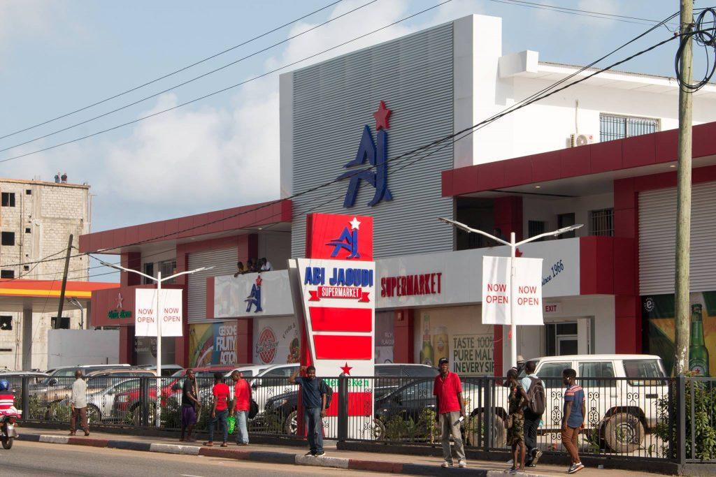 Magasin Abi Jaoudi à Monrovia.