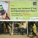 Publicité Moov dans une rue de Niamey (Niger)