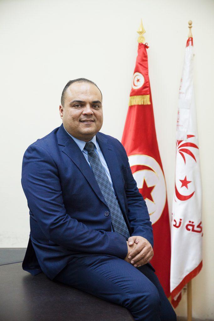 Sofiane Toubel, président du groupe parlementaire de Nidaa Tounes.