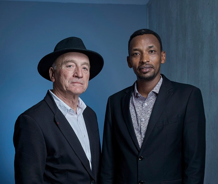 Charles Habonimana avec Daniel Le Scornet, le 25 mars 2019 à Paris.