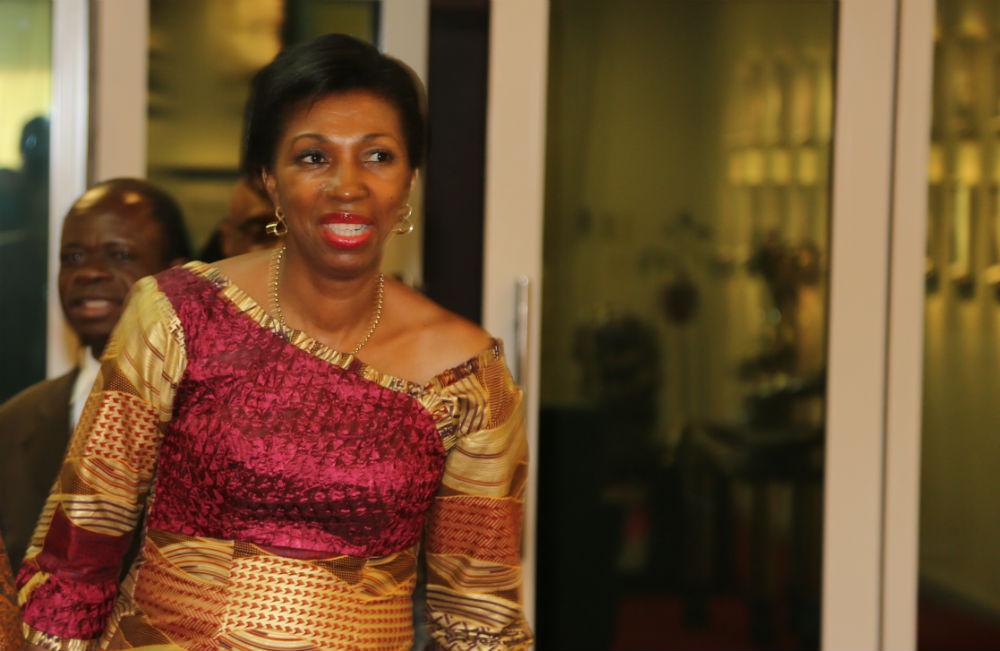 Jeanine Mabunda, en octobre 2016, lorsqu'elle était conseillère spéciale de Joseph Kabila sur la lutte contre les violences faîtes aux femmes.