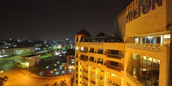 Reportage au Cameroun Hôtel Hilton dans la ville de Yaoundé.   Photo de Renaud Van Der Meeren pour les Éditions du Jaguar