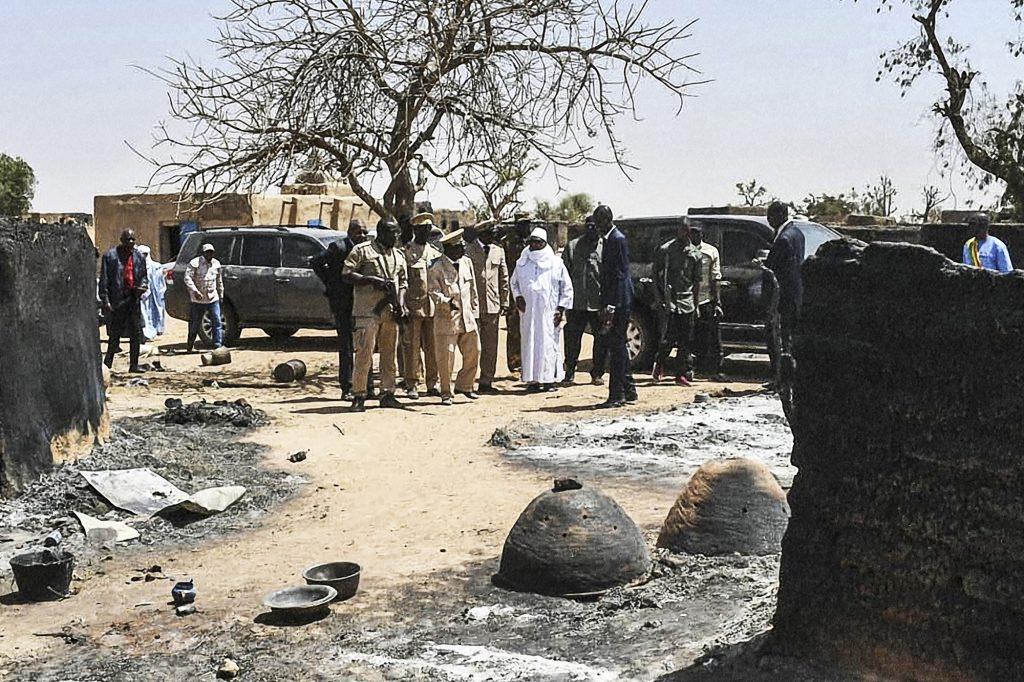 Le 25mars, le président malien s'est rendu à Ogossagou, où plus 160 villageois avaient été tués quarante-huit heures plus tôt.