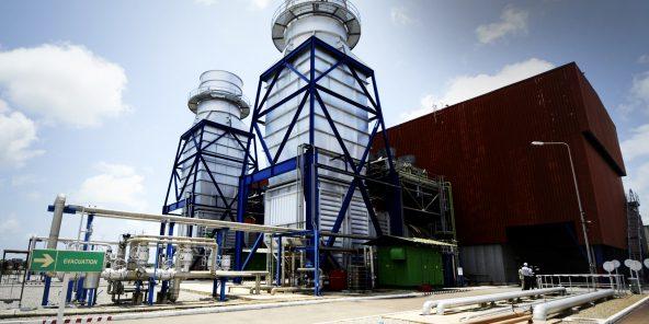 Centrale thermique d'Azito, en Côte d'Ivoire, dont General Electric est exploitant depuis 2017.