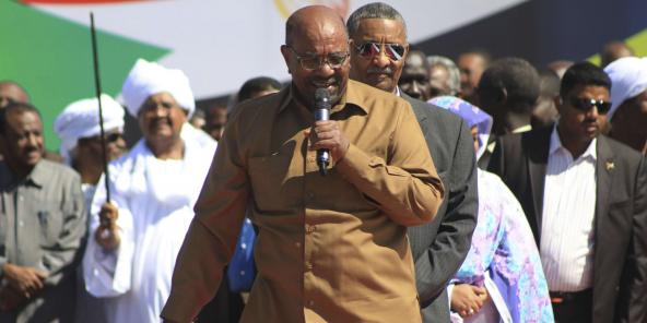 Le président soudanais Omar el-Béchir, ici en janvier 2019 à Khartoum.
