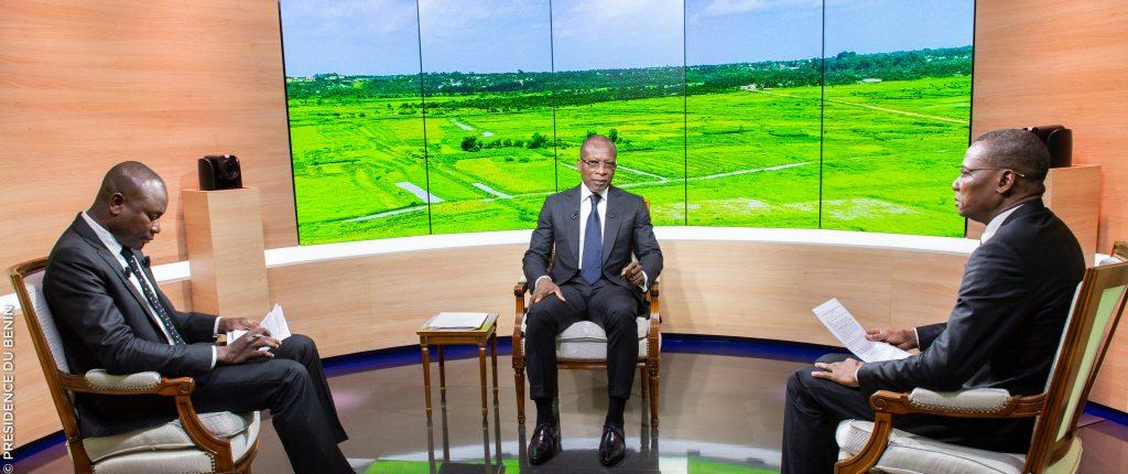 Les président béninois Patrice Talon, lors de l'émission