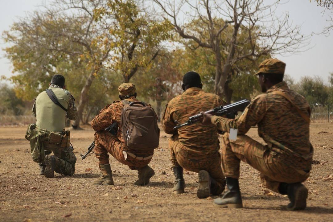 Des soldats burkinabè lors d'un exercice en février 2019 (image d'illustration).