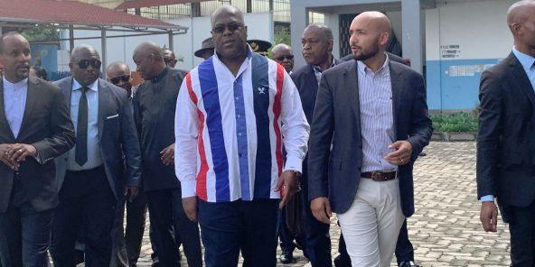 Félix Tshisekedi, à Goma le 16 avril 2019.