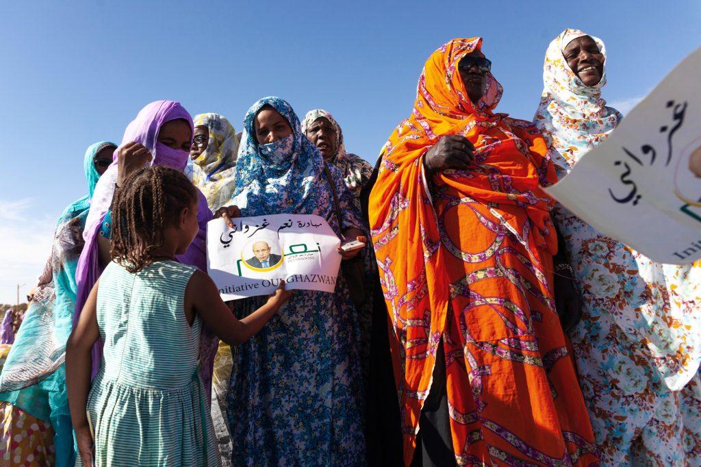 Lors d'un meeting de l'Union pour la République (UPR), à Chinguetti, en Mauritanie, le 11avril.