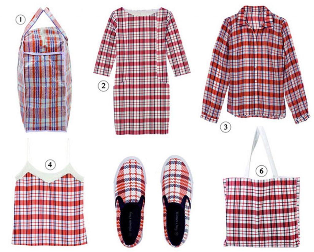 Interprétations vestimentaires du célèbre sac Tati