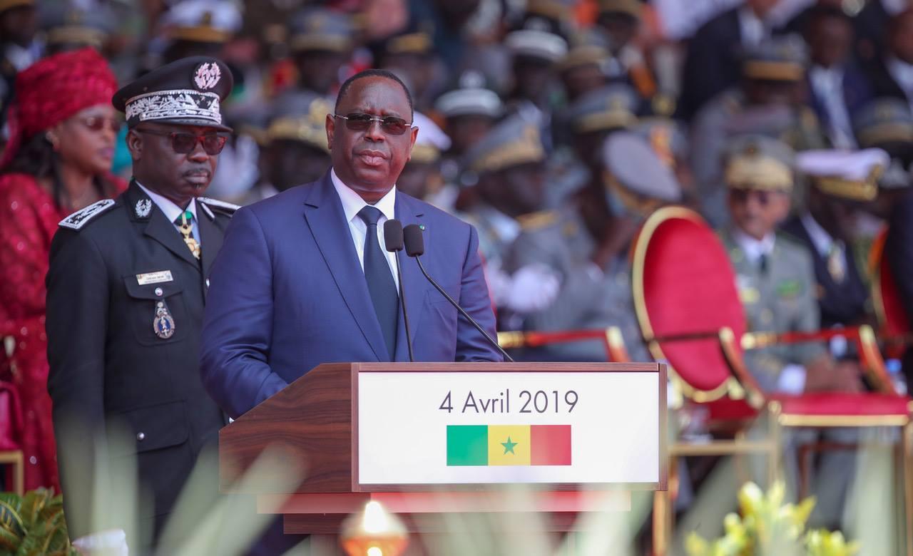 Le président Macky Sall, le 4 avril 2019 lors des célébrations de la fête d'indépendance.