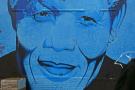 Un portrait de Nelson Mandela à Cape Town, en 2014.