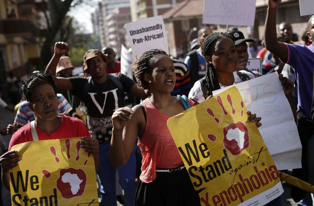 Lors d'une manifestation contre la xénophobie, à Johannesburg en 2015. (image d'illustration)