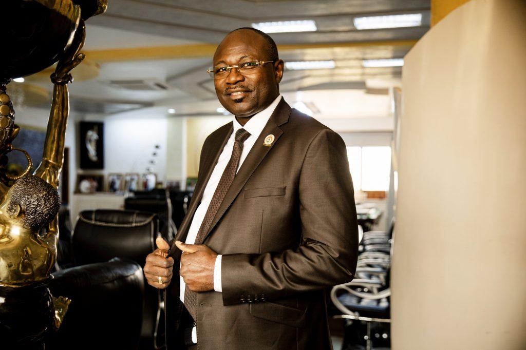 Eddie Komboigo, le président du Congrès pour la démocratie et le progrès (CDP), dans son bureau à Ouagadougou.