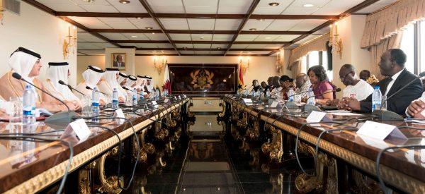 La délégation qatarie à Accra (Ghana), en décembre2017.