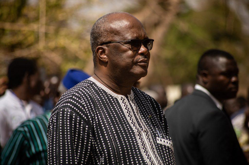 Le chef de l'État Roch Marc Christian Kaboré, le 2mars, à Ouagadougou.