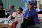 Des migrants à Zaouïa, une ville située à une cinquantaine de kilomètres à l'ouest de Tripoli.