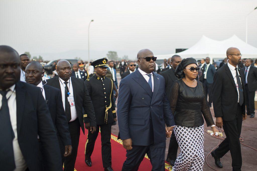 Arrivée du président Félix Tshisekedi à la Nsele.