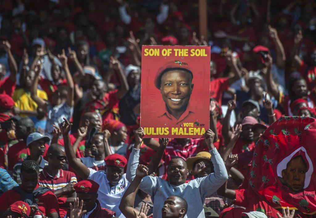 Un rassemblement des EFF, dans le township d'Alexandra, le 1er mai 2019.
