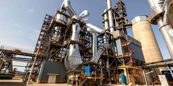 Le Nigeria produit 30millions de tonnes de ciment par an pour une population de près de 200millions d'habitants. Ici, l'usine de l'état de Sokoto, dans le nord-est du pays.