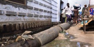 Branchement défaillant, à Accra, au Ghana (photo d'illustration).