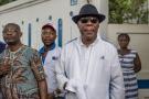 Thomas Boni Yayi, le 19 avril 2019 devant le domicile de l'ancien président  Nicéphore Soglo, à Cotonou.