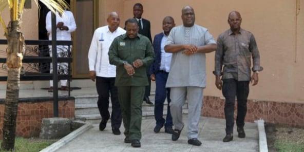 Première rencontre entre le Président de la République Felix Tshisekedi et son prédécesseur Joseph Kabila depuis la cérémonie de remise et reprise le 25 janvier 2019 au Palais de la Nation.