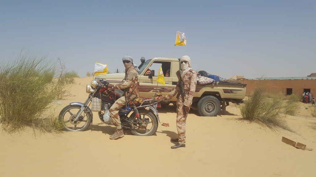 Des combattants du HCUA affiliés à Ahmed Ag Abdallah., à Koigouma, le 6 mai 2019.