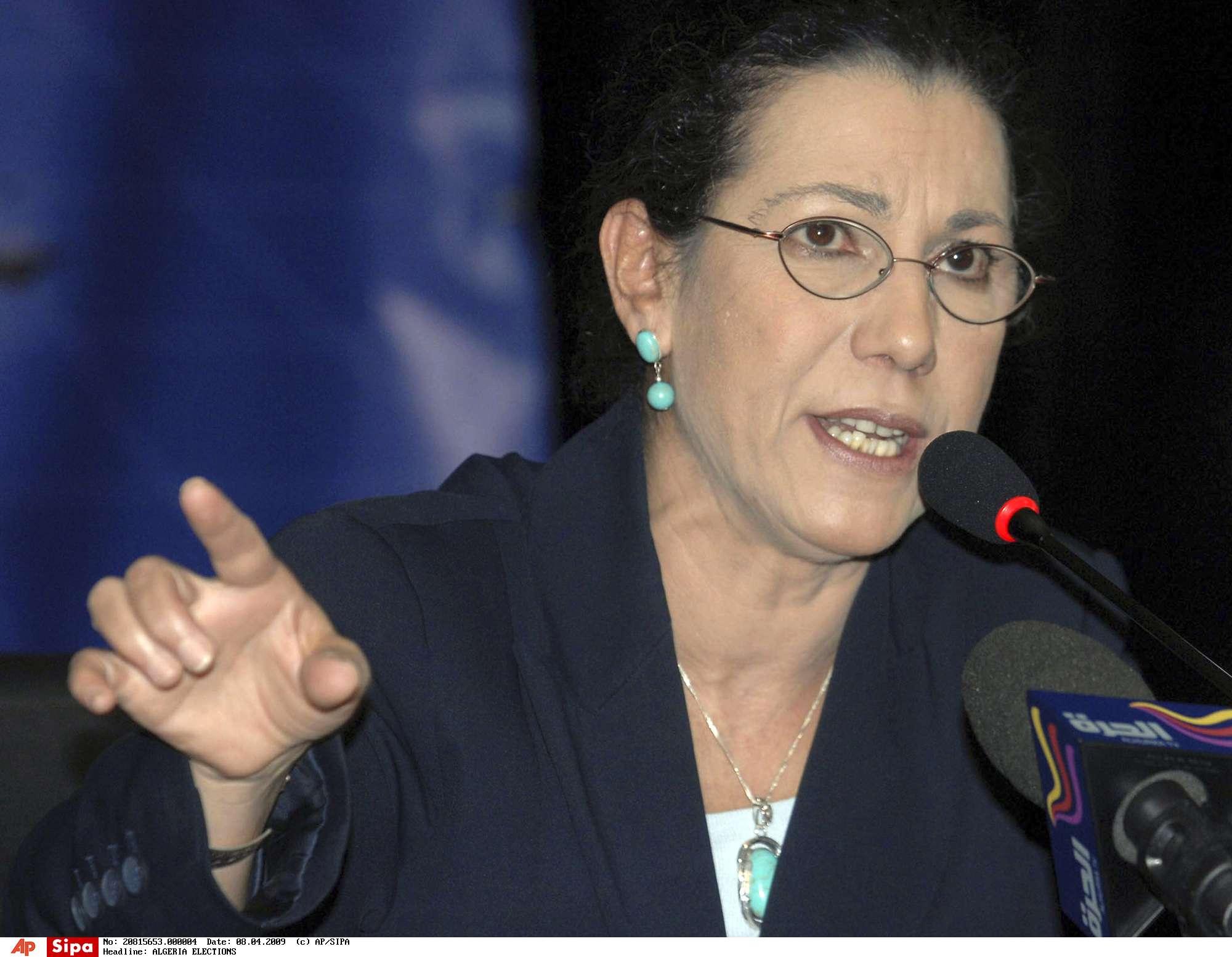 La secrétaire générale du Parti des travailleurs Louisa Hanoune.