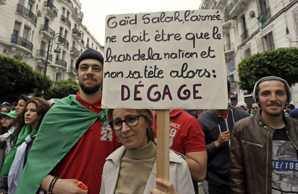 Dans le cortège de la manifestation du 3 mai 2019, à Alger.