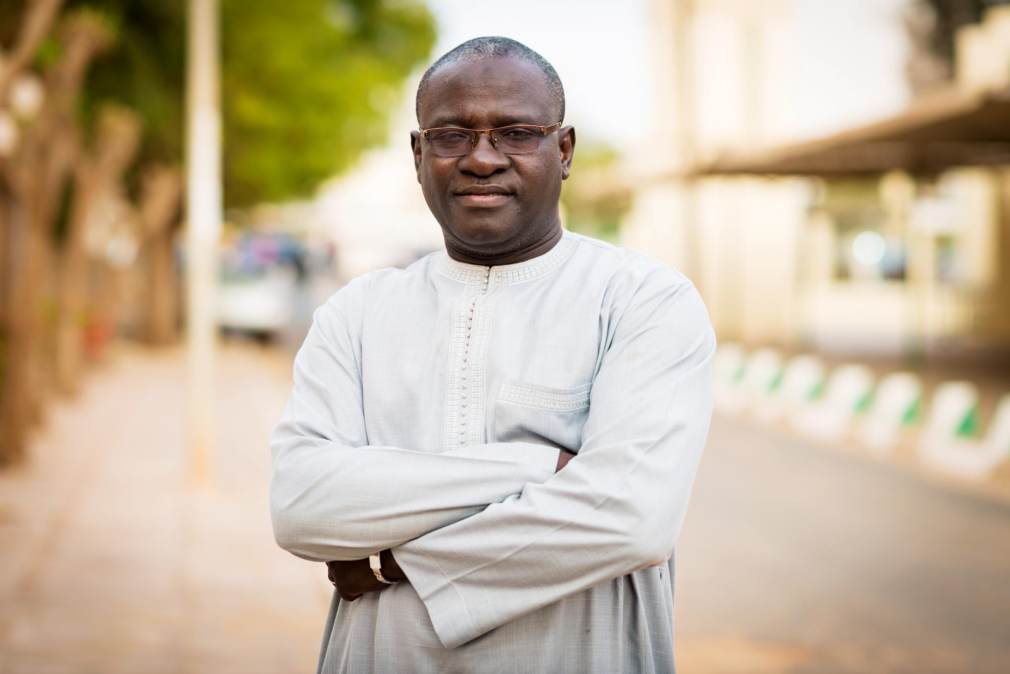Bakary Sambe, directeur du Timbuktu Institute et professeur à l'université Gaston-Berger de Saint-Louis (Sénégal) à Dakar, Sénégal le 15 mai 2019.