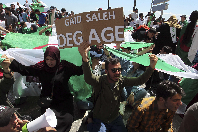 Des manifestants à Alger, en mai 2019.