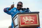 Le président du Malawi Peter Mutharika s'adresse à ses électeurs lors d'un meeting électoral en avril 2017