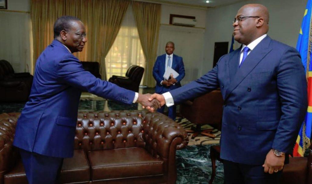 Le président Félix Tshisekedi et Sylvestre Ilunga Ilunkamba, nouveau Premier ministre de la RDC, le 20 mai 2019 à Kinshasa (image d'illustration).