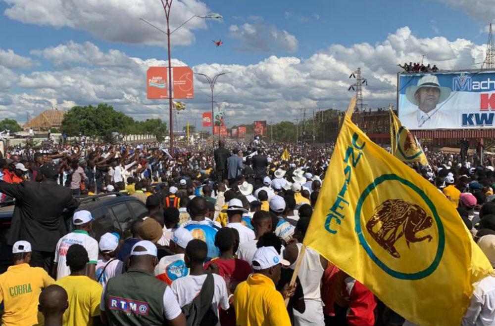 Plusieurs dizaines de milliers de personnes se sont rassemblées à Lubumbashi, lors du retour de Moïse Katumbi, le 20 mai 2019.