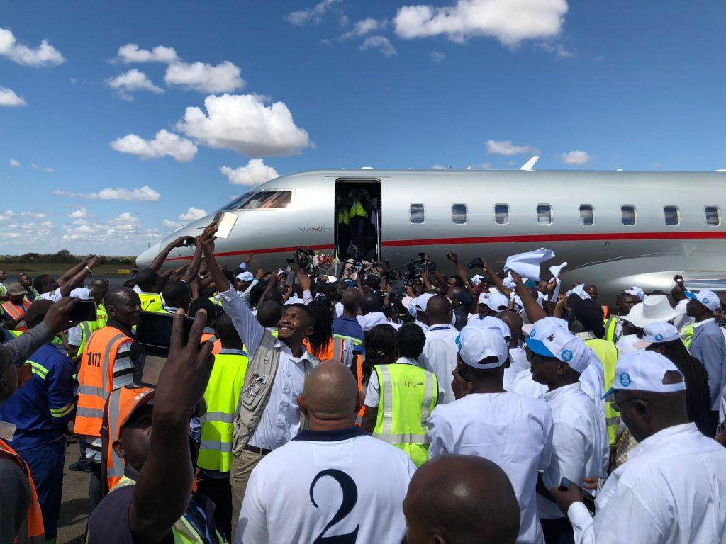 Effervescence à l'arrivée de Moïse Katumbi à Lubumbashi, le 20 mai 2019.
