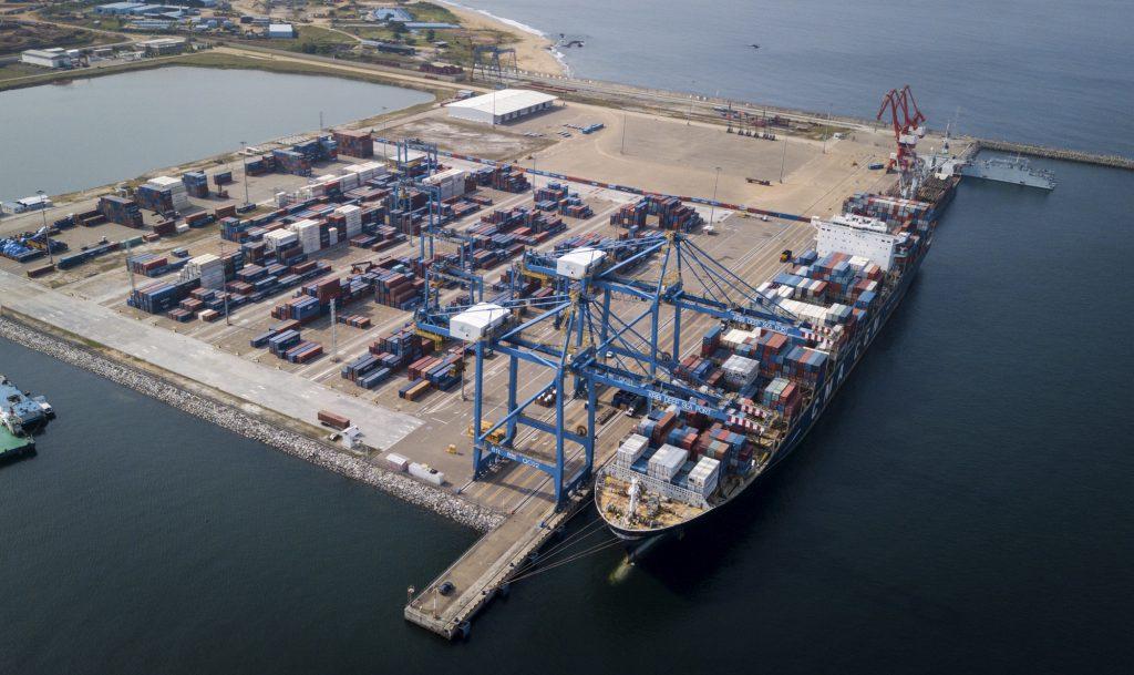 Le port en eau profonde de Kribi, entré en exploitation en mars2018.