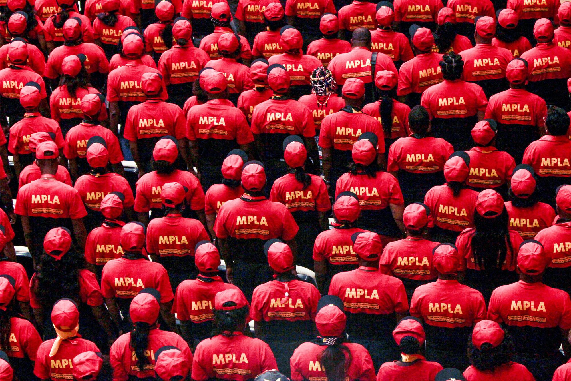 Délégués du MPLA lors du congrès extraordinaire de septembre2018, à l'issue duquel João Lourenço est arrivé au pouvoir.