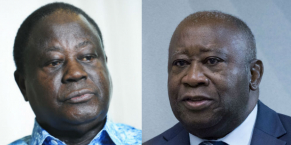 Henri Konan Bédié et Laurent Gbagbo (photos d'archives).