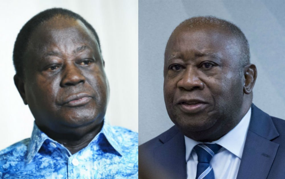 Henri Konan Bédié et Laurent Gbagbo (photos d'archives).